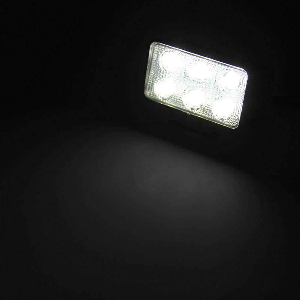 Universal 1 Sets 6LED Square Flood Beam 18W 12V 24V 6000K Light Flood Lamp Offroad Car Truck Boat Fog Driving Lights Hot
