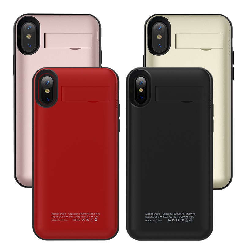 Wireless Charger Power Bank Case 5000mAh For iPhone X Wireless Charging Battery Charger Case For iPhone X + Phone Case