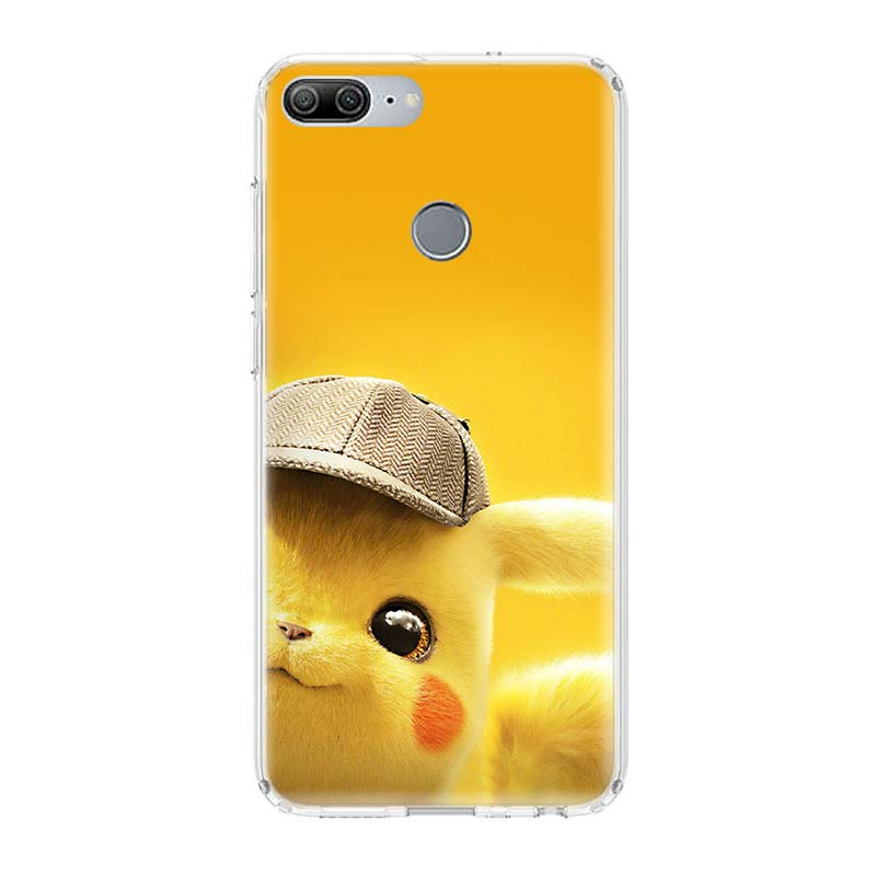 Pikachue Movie Printing Protect Phone Case For Huawei Honor 8X 20 9 10 lite 8A Pro 10i 20i 8S V20 Y5 Y6 Y7 Y9 2019 Prime Cover in Half wrapped Cases from Cellphones Telecommunications