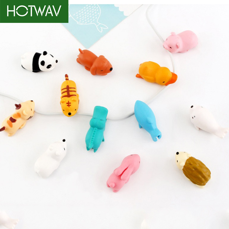 HOTWAV Cute Animal Cable Protector For iPhone USB Cable Charger Holder For iPhone Organizer Data Line  Charging Protector