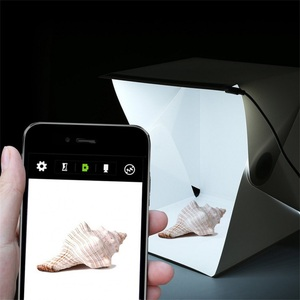 Image 5 - صندوق إضاءة صغير محمول قابل للطي استوديو التصوير الفوتوغرافي صندوق لين LED صور صندوق لينة آيفون DSLR كاميرا صور خلفية