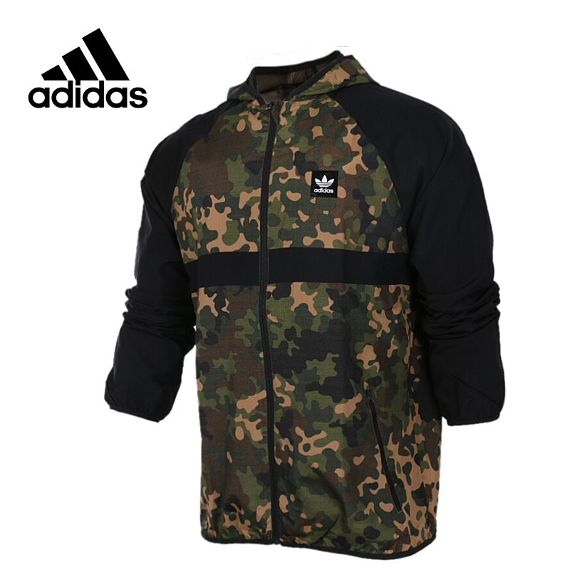 все цены на Original New Arrival Official Adidas NEO Men's Windproof Woven Jacket Hooded Sportswear