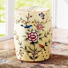 [Brand Group] odd ranks yield new Chinese classical dressing stool stool changing his shoes hand-painted flowers and ceramic dru