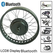 Fat Ebike Conversion Kit with LCD8 Display Bluetooth 250/250/500/750/1000/1500W Snow Eletric Bike Rear Wheel Conversion Kit(China)