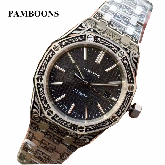192bc63c15f Relogio Masculino Mens Watches Mechanical Full Steel Date 3ATM Waterproof  Resistant Self-winding Automatic Watch