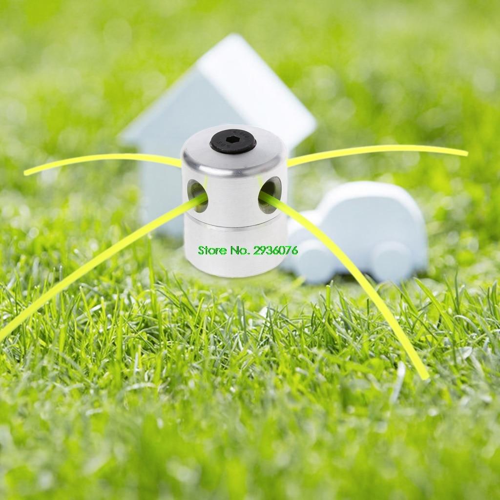 2018 neue Aluminium Gras Trimmer Kopf w/4 Linien Pinsel Cutter Kopf Rasenmäher Zubehör Tropfen Verschiffen Unterstützung