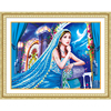 5D DIY Diamond Embroidery Girl Special Shaped Candlelight Diamond Painting Cross Stitch Happiness Blooms Christmas Gift