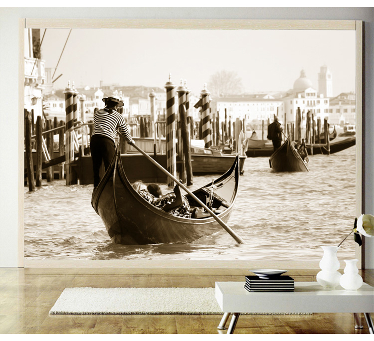 Large 5d Venice City Papel Murals Natural scenery black&white 3d photo mural wallpaper for living room background 3d wall mural 3d papel parede forests trees bridge reflection scenery 3d wall paper mural 3d photo wallpaper 3d wall mural for sofa background