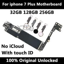 Оригинальная материнская плата для Apple iphone 7 Plus 32 GB 128 GB 256 GB, для iphone 7 Plus материнская плата с сенсорным ID/без Touch ID