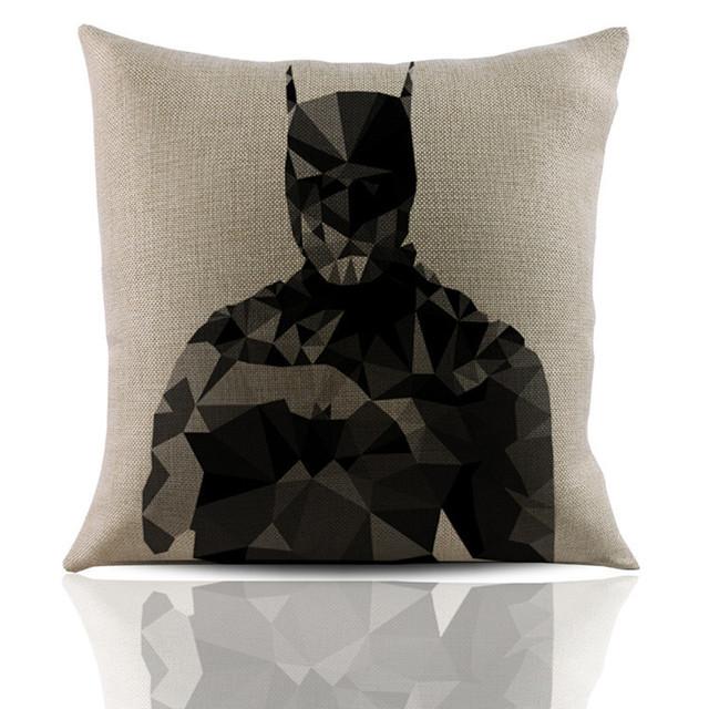 Abstract Superhero Linen Cushion Pillowcase
