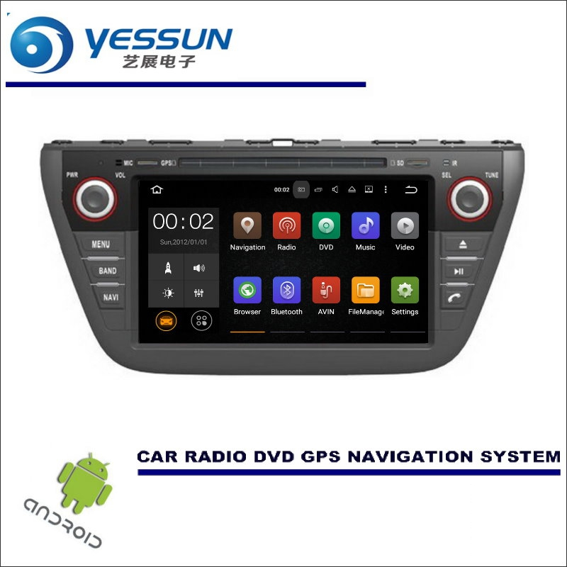 YESSUN Car Multimedia Navigation System For Suzuki SX4 2013~2017 - CD DVD GPS Player Navi Radio Stereo HD Screen Wince / Android цена