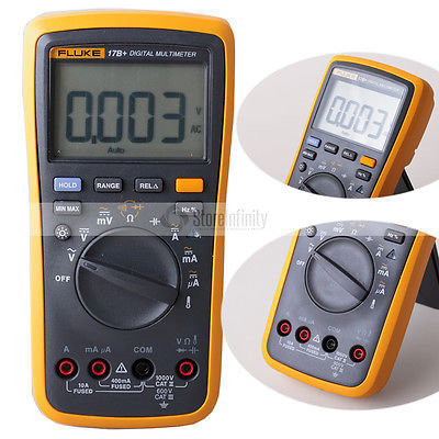 Fluke 17B+ Auto Range Digital Probe Multimeter Meter Temperature & Frequency DE Shipping
