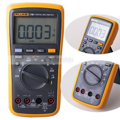 Fluke 17B + Faixa de Auto Digital Multímetro Sonda Medidor de Temperatura & Freqüência DE envio