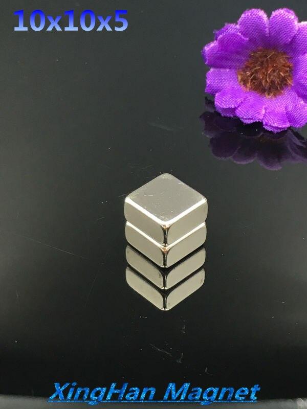 20PCS N35 Square 10x10x5 Block Magnet 10mm x 10mm x 5mm Rare Earth Neodymium 10*10*5