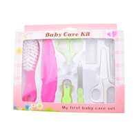 new product 8 pcs baby health care kit baby care grooming set with nail file clipper tweezer free shipping