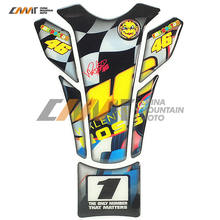 Motorcycle Fish Bone Gas Tank Pad Decal Sticker Valentino Rossi Sticker 46 VR46 The Doctor Tank Protector Cae for Honda Yamaha