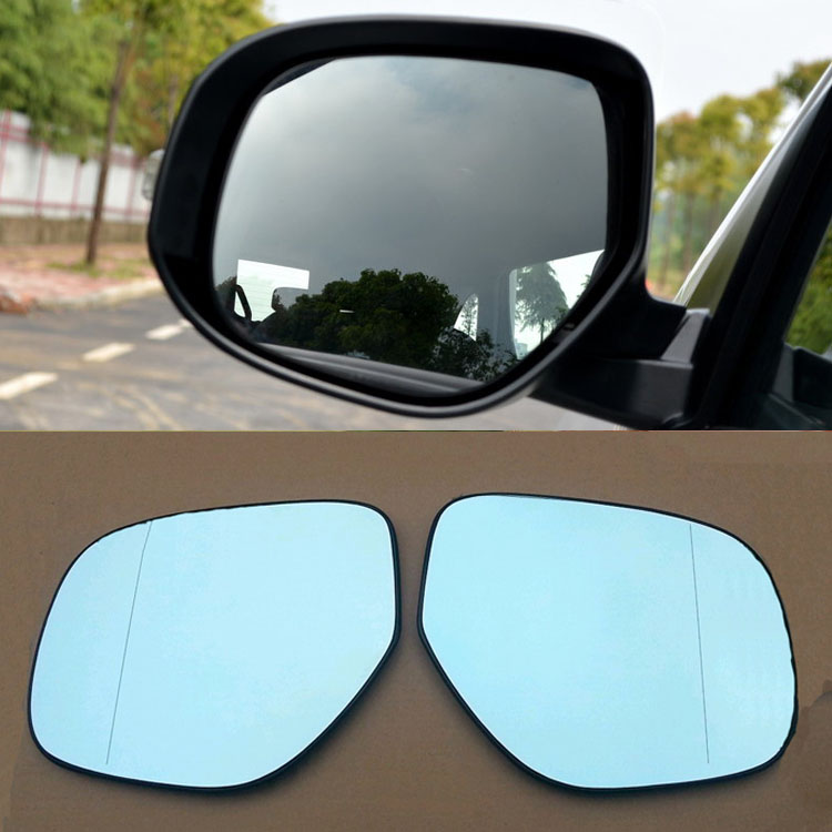Ipoboo 2pcs New Power Heated w/Turn Signal Side View Mirror Blue Glasses For Mitsubishi ASX