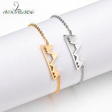 Nextvance – Bracelet délicat en acier inoxydable, chaîne à maillons d'aventure, bijoux de randonnée