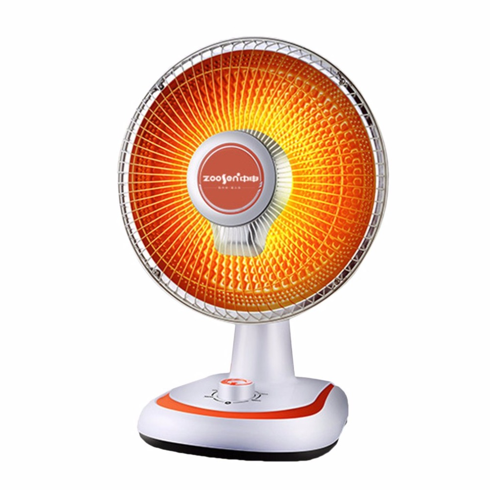 Electric Fan Room Heaters 600W Energy-Saving Sun-like Desktop Mute Heating Device EU Plug For Home Office Tip -Over Protection
