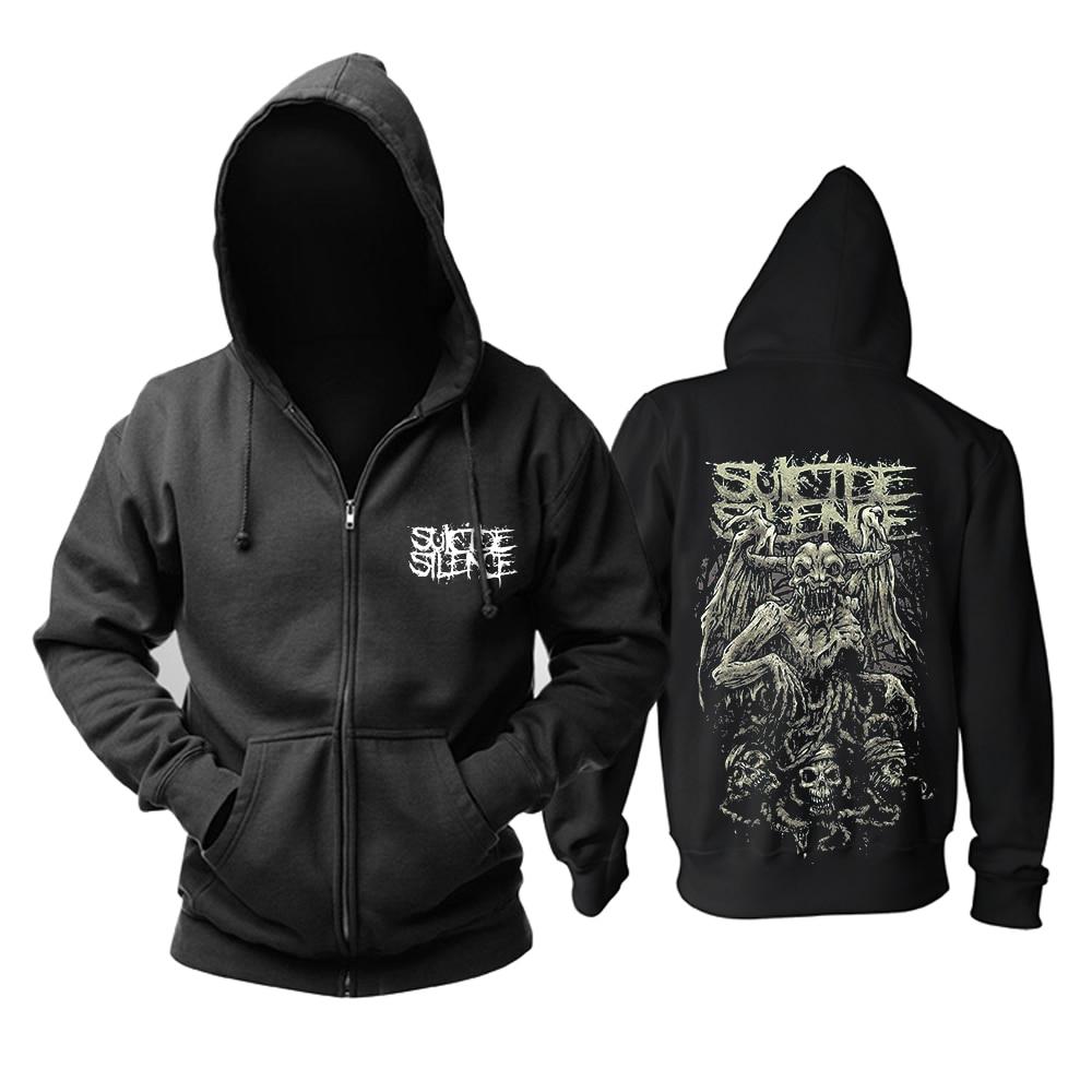 Bloodhoof Kostenloser versand Suicide Silence rock mucis pop hoodie Asiatische Größe-in Hoodies & Sweatshirts aus Herrenbekleidung bei  Gruppe 2