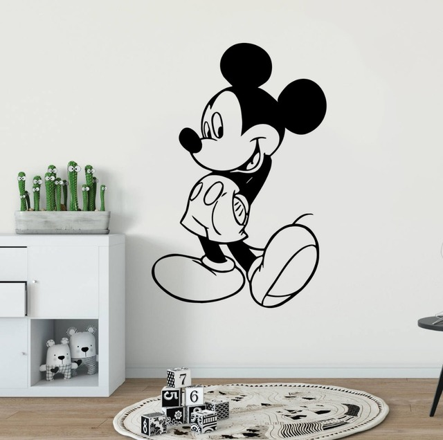 kids room decor mickey mouse wall sticker cartoon character wall