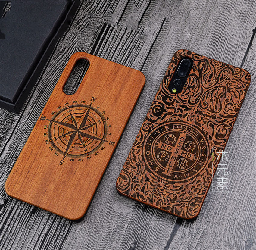 huge selection of fe327 616b4 Unique Huawei P20 Pro Case P20pro Wood Bamboo PC Hard Protective Shell Case  For Huawei P20 Lite Phone Accessories