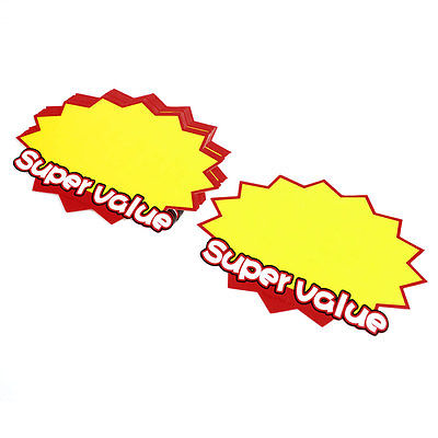 12 X 17.5cm Supermarket Store Promation Price Tags POP Paper Cards Sign