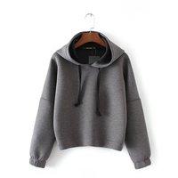 Europejski Nowa Przestrzeń Bawełniana Bluza Z Kapturem Lady Moda k-pop Bluza Pullover Dla Kobiet H214