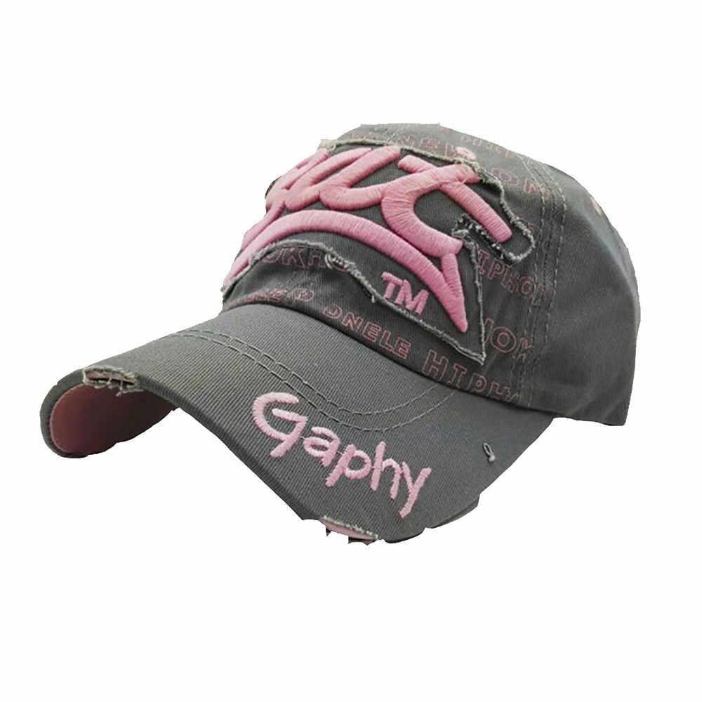 Bordado Cap Verão Chapéus Para Mulheres Dos Homens Casual Chapéus Hip Hop Bonés de Beisebol de beisebol da Berretto * 30