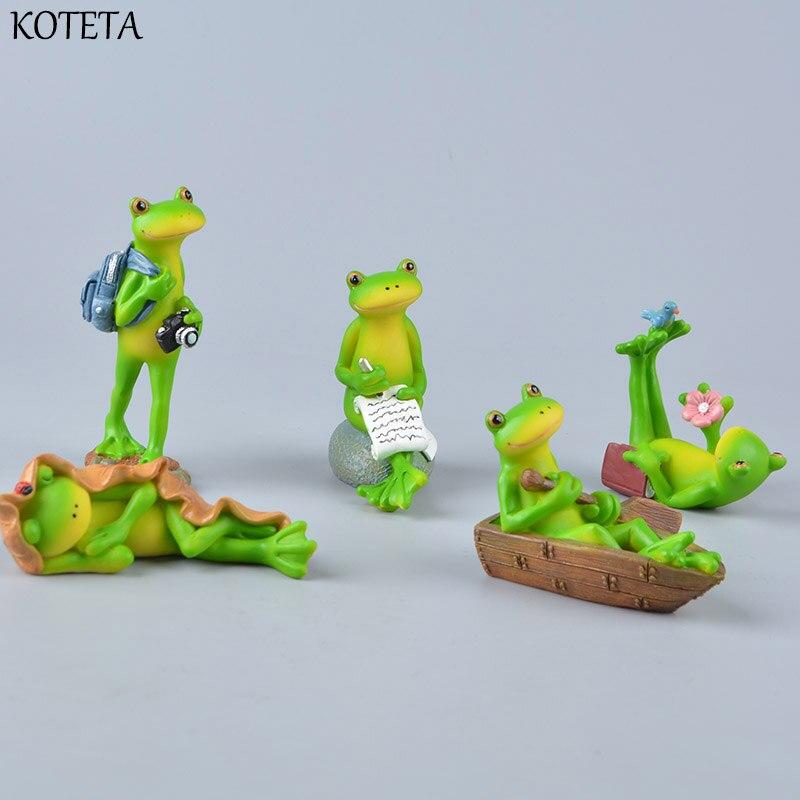 Koteta Kids Toys Animal-Figure-Model Frog Decoration-Accessories Christmas-Gift for Children