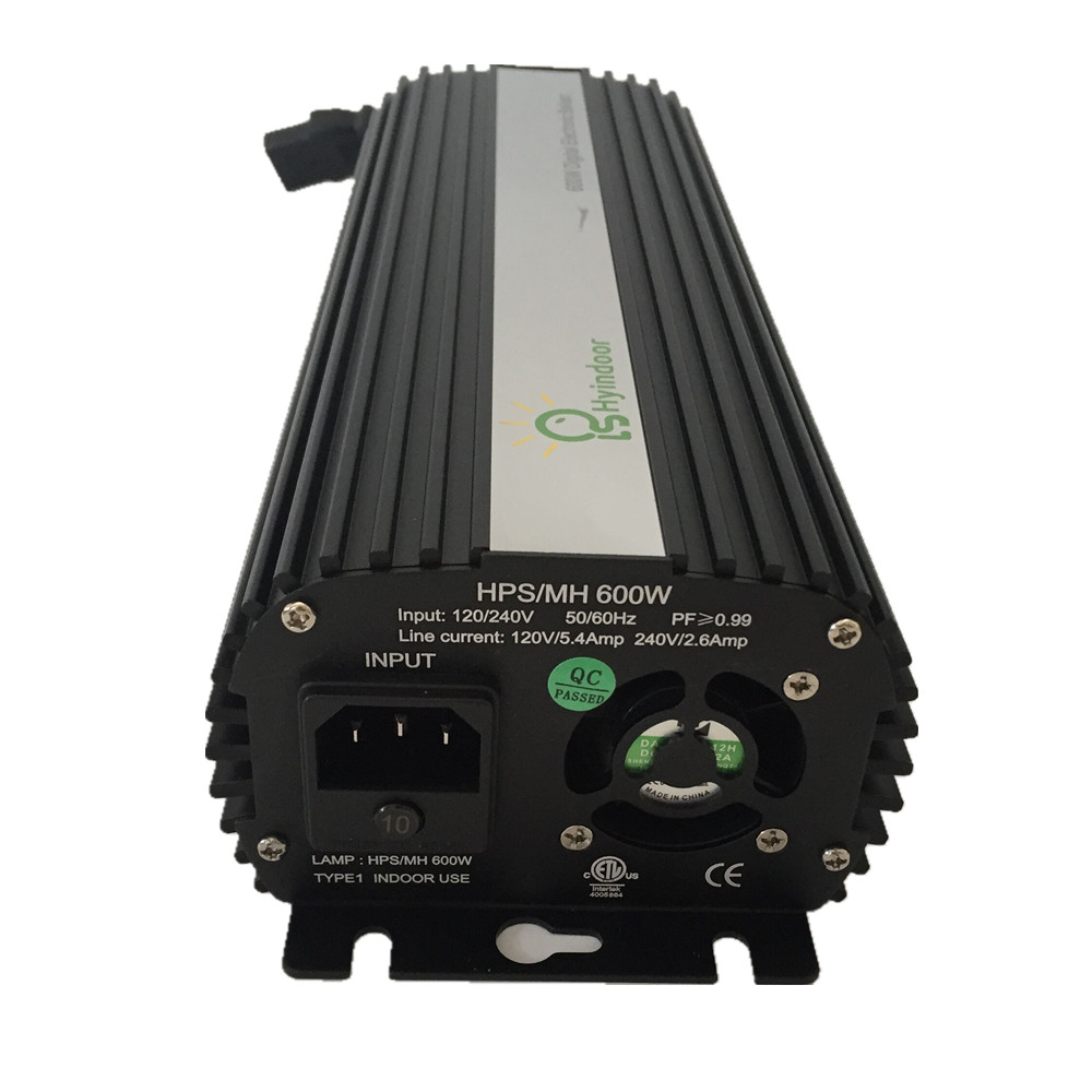 EU PLUG MH/HPS Ballasts 600w Dimmable Electronic Ballasts