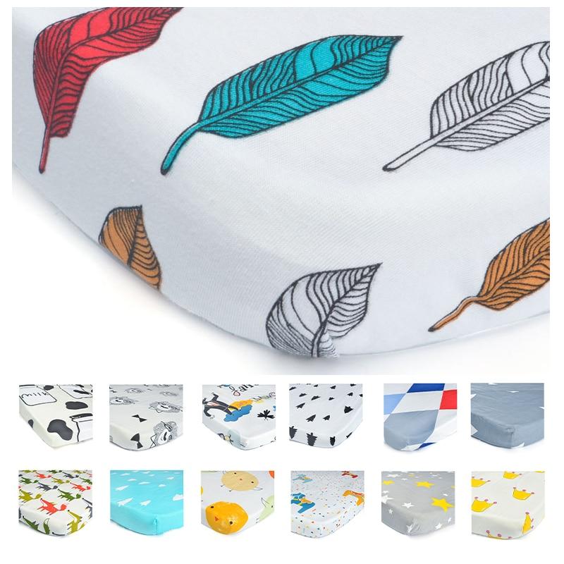 100% Organic Cotton Toddler Baby Sheet Bedding Bag Bedding Sets Bed Sheet Baby Kids Linens