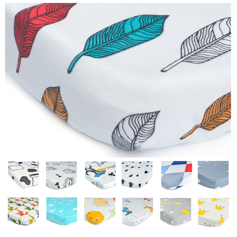 100% Organic Cotton Toddler Baby Sheet Bedding Bag Bedding Sets Bed Sheet Baby Kids Linens image