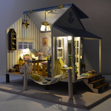 DIY DollHouse Miniatura Doll House Furniture Wooden Handmade Decorations Puzzle Gift Toys For Children A017 #E