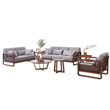 1801B62 Simple Europe style sectional fabric soft comfortable Modern living room solid wood sofa set livingroom furniture(China)