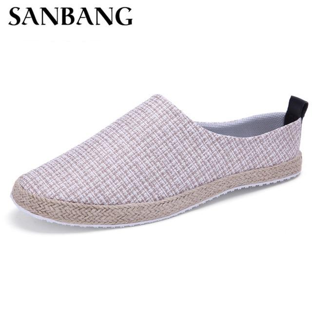 Pie de los Zapatos de lona hombres Zapatos casuales moda de verano hombres Zapatos de lona alpargatas transpirable Zapatos Hombre k4