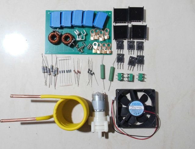 US $35 0 |Induction heating kit ZVS kit, tap less Jacob drive, high voltage  package, Tesla drive, 4 tubes-in Air Conditioner Parts from Home