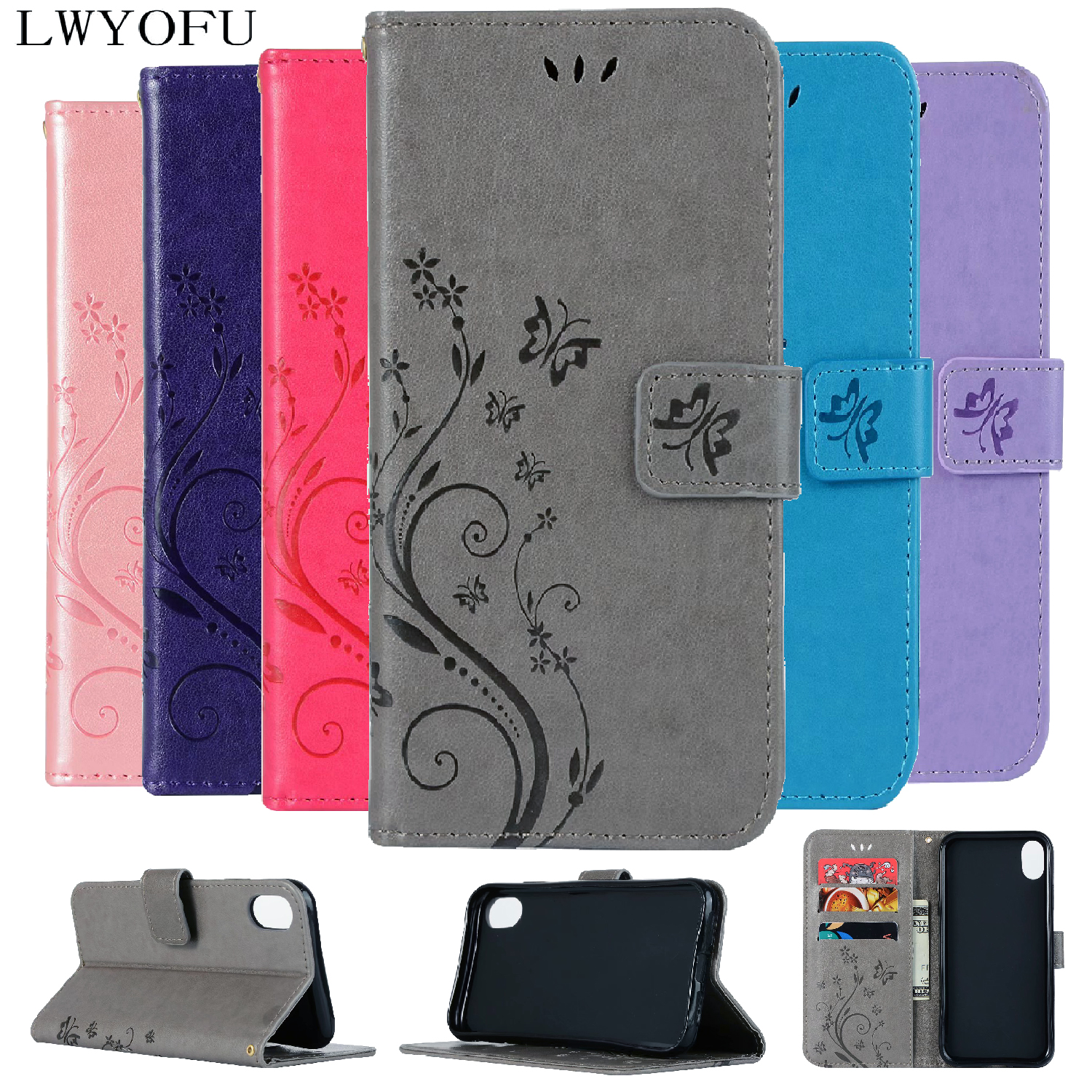 Deluxe Flap PU Leather Case for Apple iPhone 4S 5S 6S 7 8 Plus XR XS Max Faux Leather Card Slot Wallet for iPhone 6S Plus Case in Flip Cases from Cellphones Telecommunications