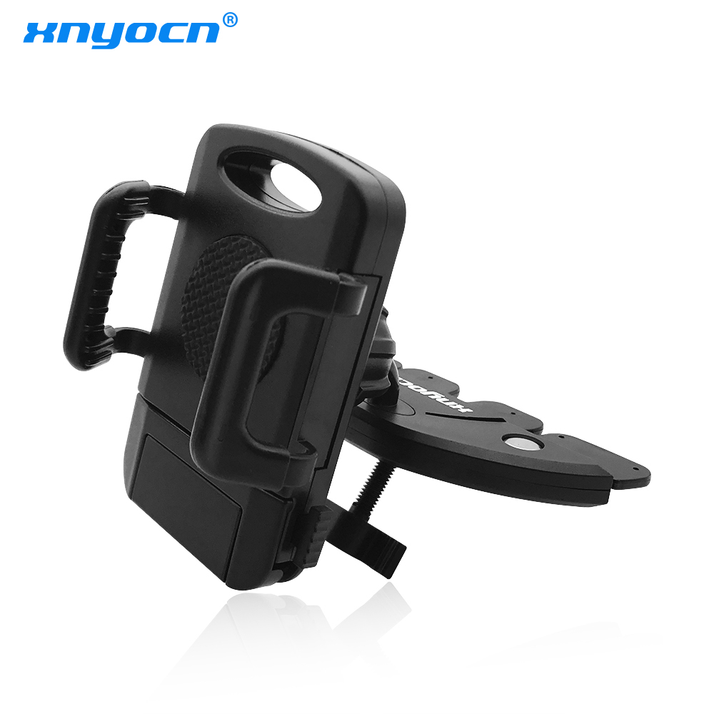 High Quality 360 Degree Rotationg Car CD Dash Slot Cell Phone Stand Holder For Samsung S4 S5 S6 Edge For iPhone Car Mount Stand