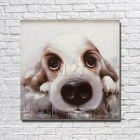 الجملة للبيع لطيف الكلب الصغير ديكور المنزل غرفة المعيشة ديكور فن الصور الجميلة مع مؤطرة اللوحة مستعدة لشنق الفني