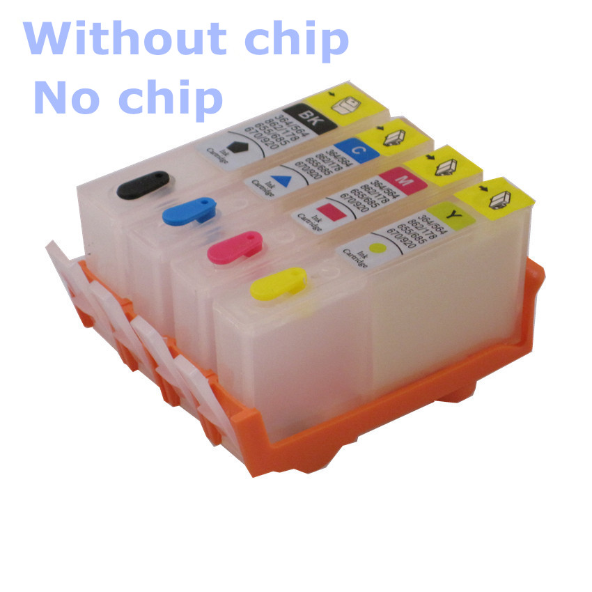 BLOOM Compatible For Hp  920 655 178 364 564 862 685 670 Refillable Ink Cartridge Without Chip . Empty Cartridge