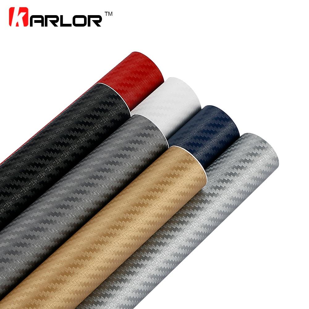 600x80cm 3D Black Carbon Fiber Vinyl Film Carbon Fibre Car Wrap Sheet Roll Film Tools Car Stickers Decal Car Styling Accessories car styling - title=