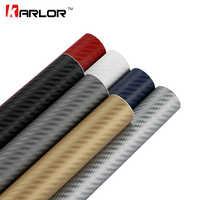 80 cm de large 3D noir Fiber de carbone vinyle Film Fiber de carbone voiture Wrap feuille rouleau Film outils autocollant voiture style accessoires
