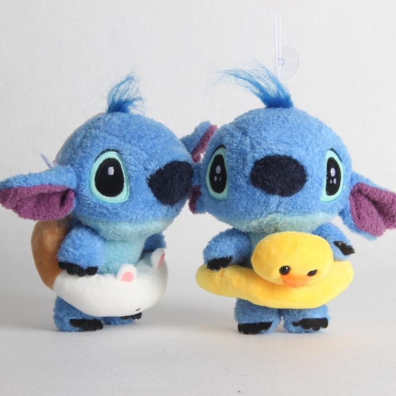 2pcs/lot 22cm Kawaii Stitch Scrump Plush Toys Doll Stich Plush Soft Stuffed Animals Toys For Children Kids Birthday Gift