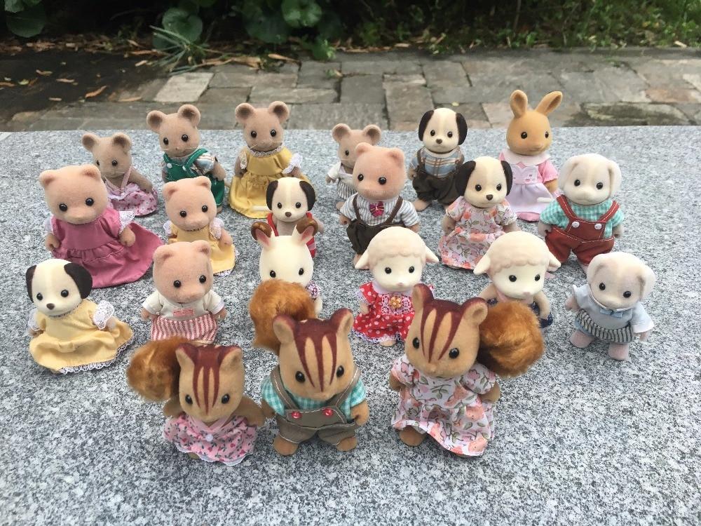 TT03-- Original 10pcs/Set Sylvanian Families Animal Toy Figures Dolls Random Sending New Loose lots of 6pcs original equestria girls 9 dolls action figures new loose no wings