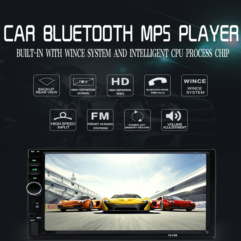 Podofo Car Multimedia player Autoradio 2 Din 7 Car Radio Audio Stereo Touch Screen auto MP5 Player Bluetooth TF USB FM camera6