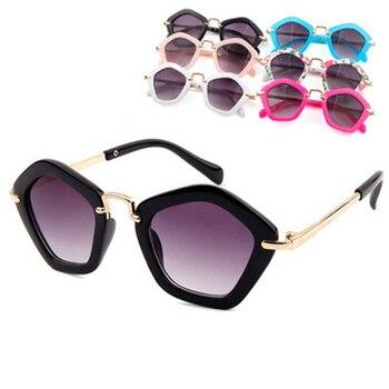Sunglasses Brand Designer Camellia High Quality UV400 Boys Girls Goggle Sunglasses Fashion Kids Child Coating
