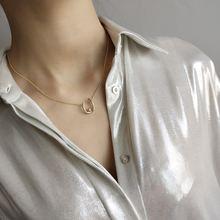 Amaiyllis Мода 925 Стерлинговое Серебро u образные Ожерелья