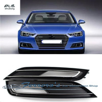 Free shipping high quality plastic front fog lamp box cover car accessories for 2013 2016 AUDI A4 B9