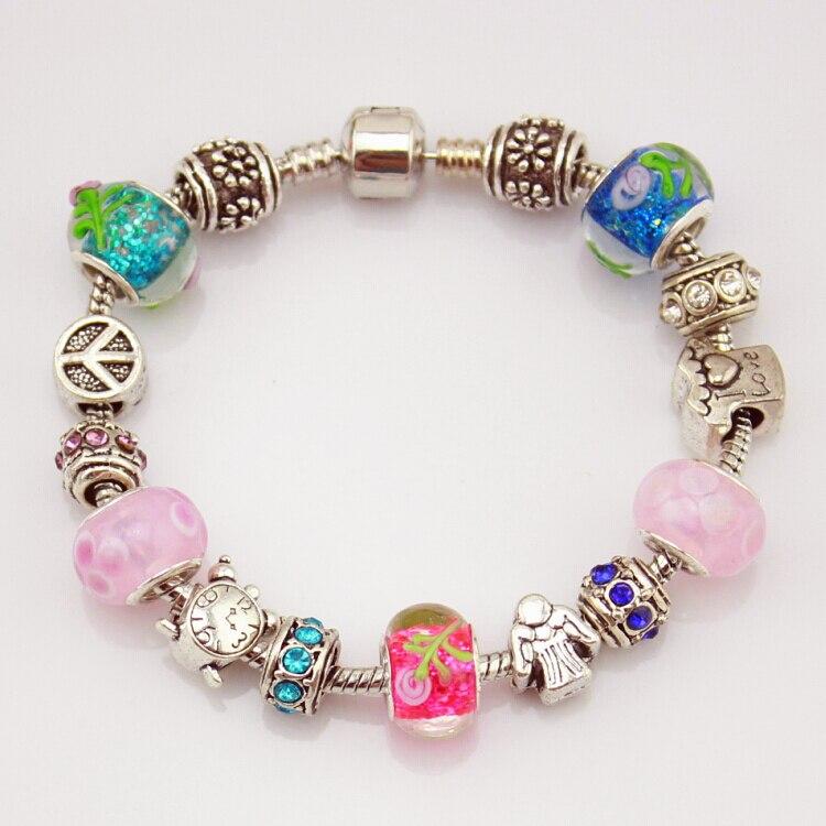 MPB Fran Charme Perlen Armbänder Murano Glas Perlen Armbänder frauen Schmuck DIY Kostbare Geschenke
